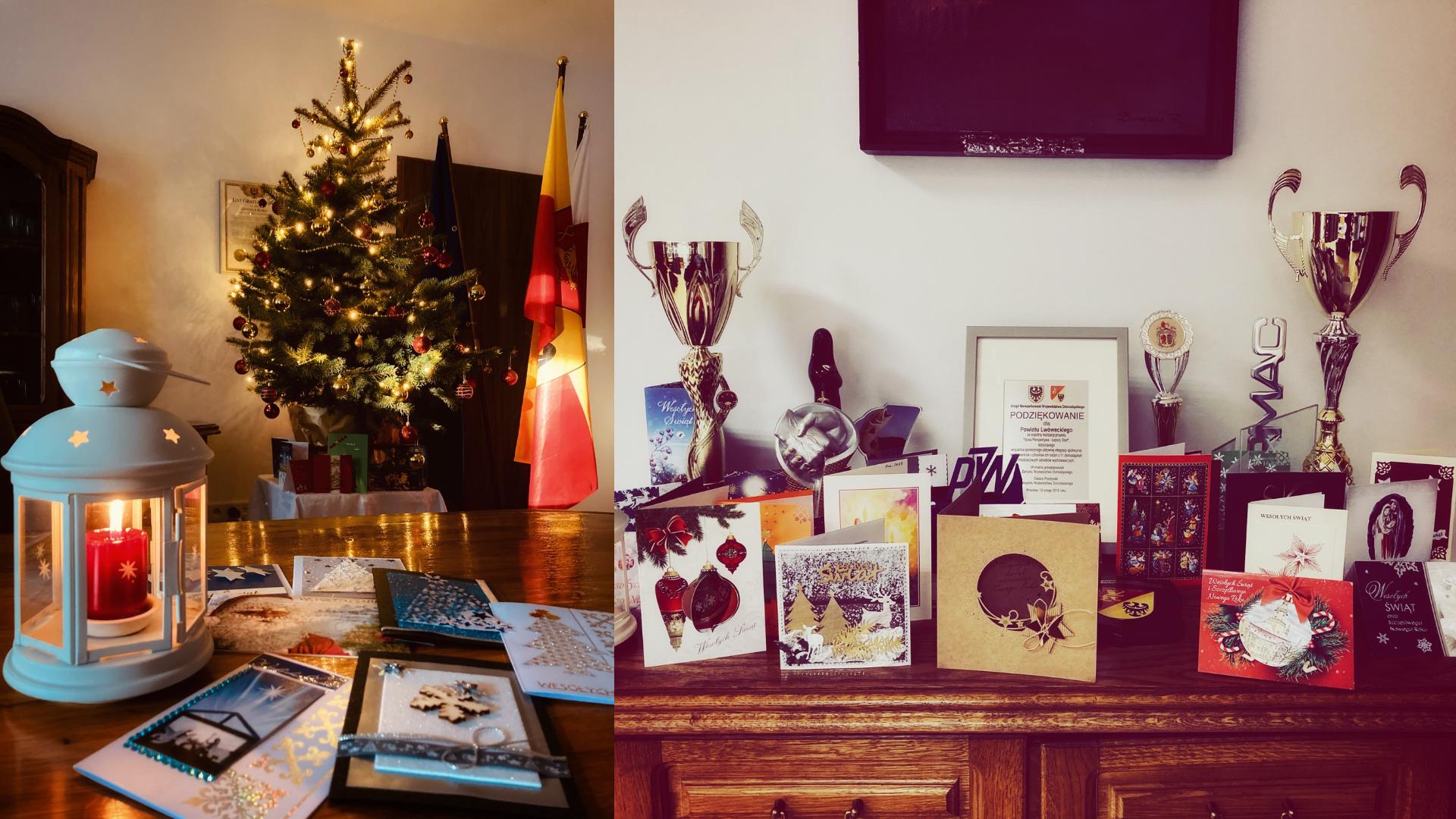 Kartki świąteczne dla Starosty