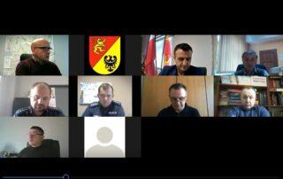Na zdjęciu widoczni są członkowie Komisji Bezpieczeństwa i Porządku