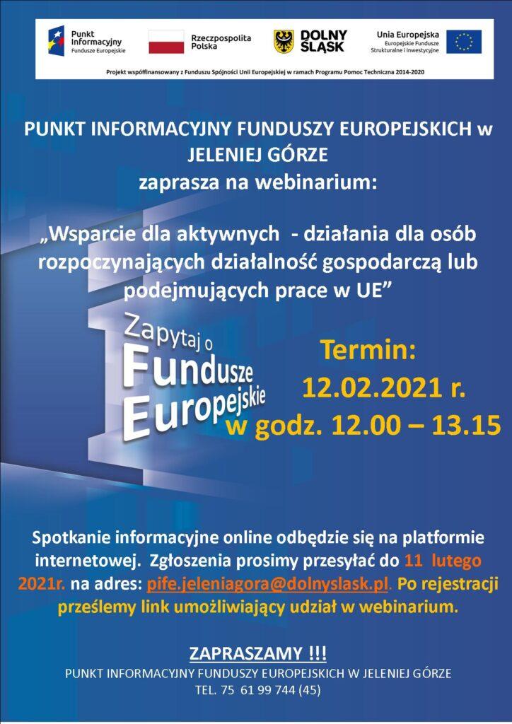 Plakat - ogłoszenie o webinarium