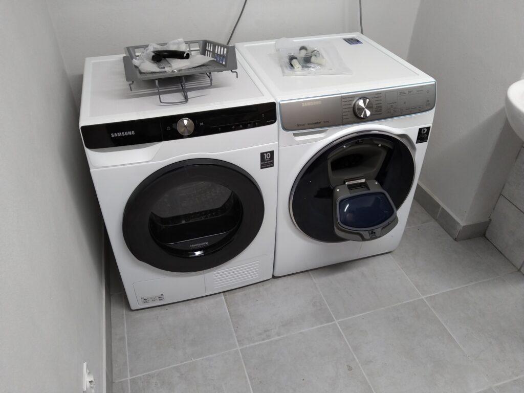 nowe pralki w internacie w ZSET w Rakowicach Wielkich
