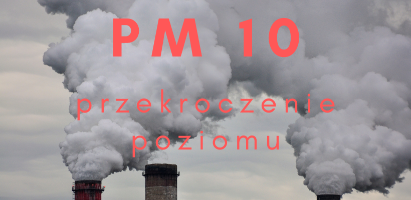 przekroczenie PM10, dym, kominy,
