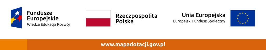 Logotypy RP, UE oraz Europejskiego Funduszu Społecznego