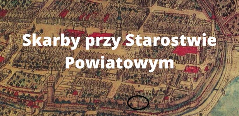 Średniowieczny plan miasta Lwówka Ślaskiego z zaznaczeniem miejsca badań