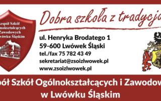 logo szkoły z kontaktem